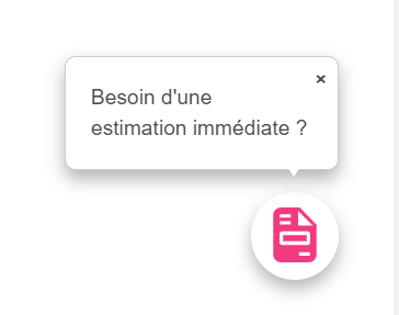 Le call to action prend la forme d'un chatbot sur votre page web.